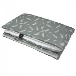 Preschooler Blanket 100x130cm White Feathers - Velvet