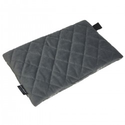 Medium Bed Pillow 25x40 Dark Grey Feathers - Velvet