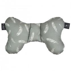 Shock-Absorbent Pillow Dark Grey Feathers- Velvet