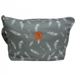 Cosmetic Bag Feathers L