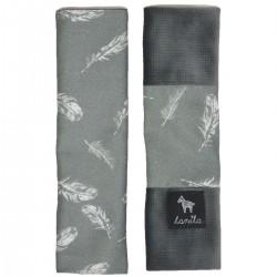 Ochraniacze na pasy Dark Grey Feathers - Velvet