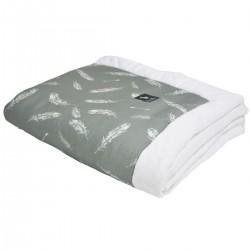 Newborn Blanket 60x70cm White Feathers - Velvet