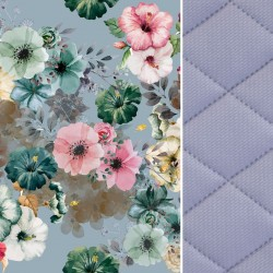 Blanket for Adults Grey Camilla Gardens 140x200 - Velvet