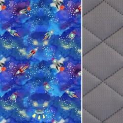 Blanket for Adults Dark Grey Galaxy 140x200 - Velvet