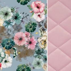 Blanket for Adults Pink Camilla Gardens 140x200 - Velvet