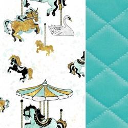 Blanket for Adults Aqua Funfair 140x200 - Velvet