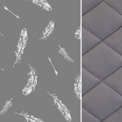 Koc Dark Grey Feathers 140x200 - Velvet