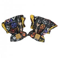 Waterproof Muff/Gloves Curry Boho Velvet