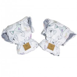 Waterproof Muff/Gloves Grey Tender Friends Velvet