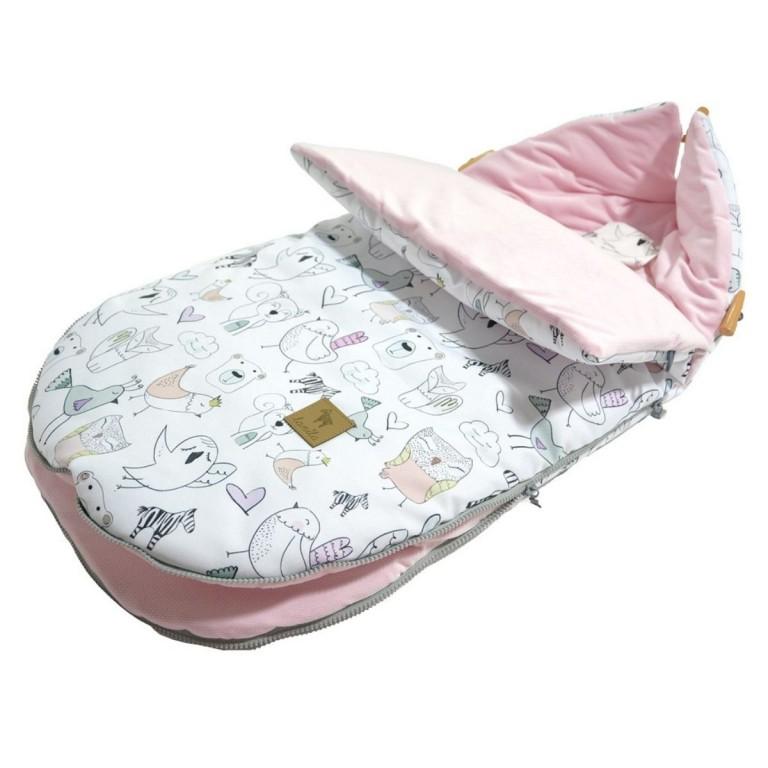 Stroller Bag S/M (0-1 year) Pink Tender Friends Velvet
