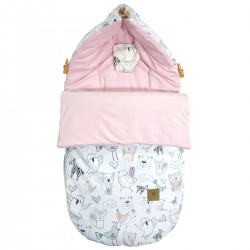 Stroller Bag S/M (0-1 year) Pink Tender Friends Velvet