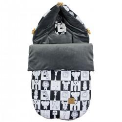 Stroller Bag S/M (0-1 year) Dark Grey Wonderland Velvet