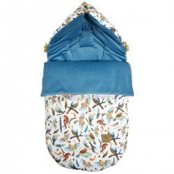 Stroller Bag S/M (0-1 year) Blue Birdies Velvet