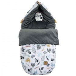 Stroller Bag S/M (0-1 year) Dark Grey Goldenprint Velvet