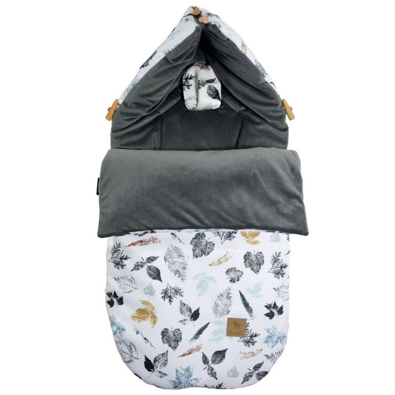 Stroller Bag S/M (0-1 year) Dark Grey Goldenprint Velvet