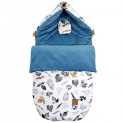 Stroller Bag S/M (0-1 year) Blue Goldenprint Velvet