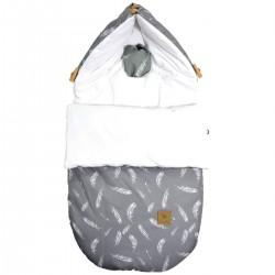 Stroller Bag S/M (0-1 year) White Feathers Velvet