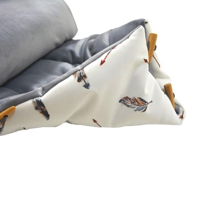 Stroller Bag S/M (0-1 year) Grey Pure Velvet