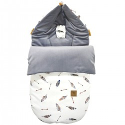 Stroller Bag S/M (0-1 year) Grey Pure Velvet
