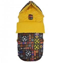 Stroller Bag Curry Boho Velvet L/XL (1-3 years)