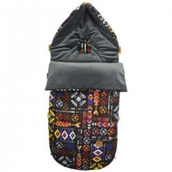 Stroller Bag Dark Grey Boho Velvet L/XL (1-3 years)