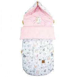 Stroller Bag Pink Tender Friends Velvet L/XL (1-3 years)
