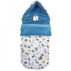 Stroller Bag Blue Goldenprint Velvet L/XL (1-3 years)