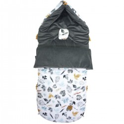 Stroller Bag Dark Grey Goldenprint Velvet L/XL (1-3 years)