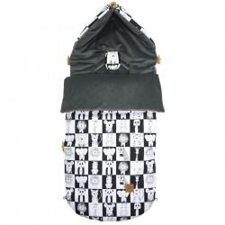 Stroller Bag Dark Grey Wonderland Velvet L/XL (1-3 years)