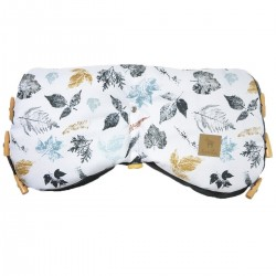 Waterproof Muff Dark Grey Goldenprint - Velvet