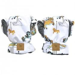 Waterproof Muff/Gloves Dark Grey Funfair Velvet