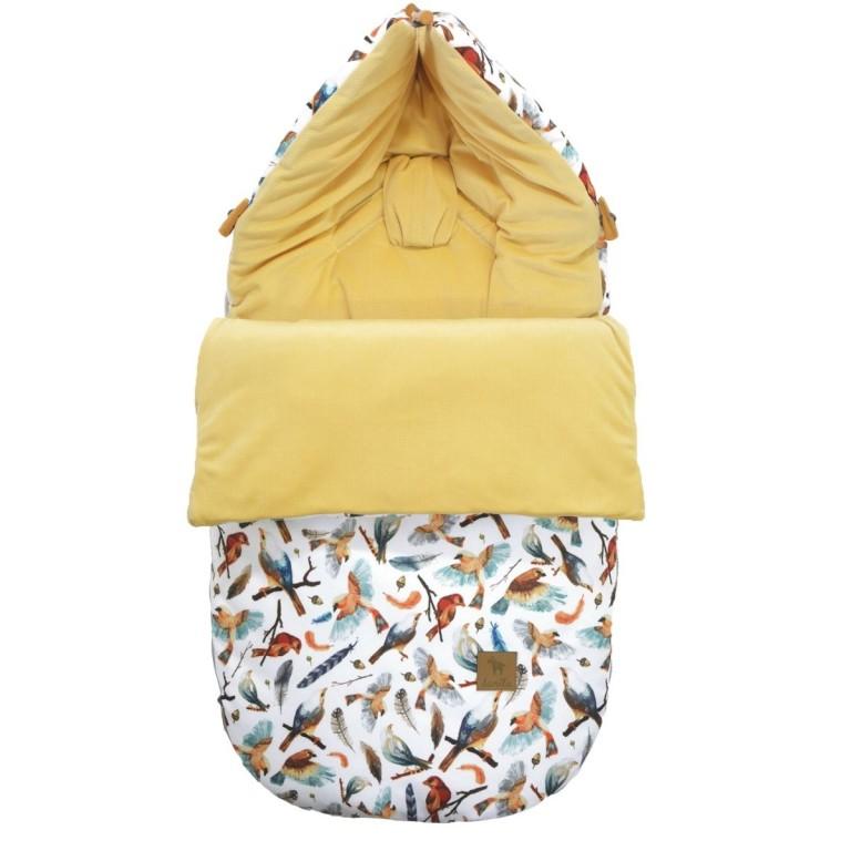 Śpiworek Banana Birdies Velvet S/M (0-1 roku)
