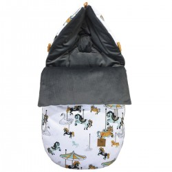 Stroller Bag S/M (0-1 year) Dark Grey Funfair Velvet