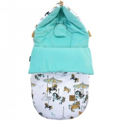 Stroller Bag S/M (0-1 year) Aqua Funfair Velvet