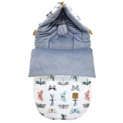 Stroller Bag S/M (0-1 year) Grey Wings Velvet