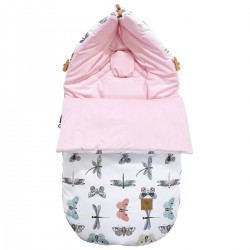 Stroller Bag S/M (0-1 year) Pink Wings Velvet